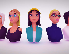 3D asset Nine VR female character avatars