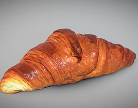 3D French Croissant realtime PBR