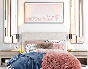 RH Sloane Upholstered Bed 3D