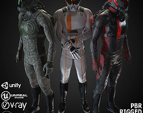 MX01 Sci-Fi Suit Male 3D asset