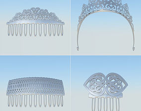 3D model Hair jewelry low poly