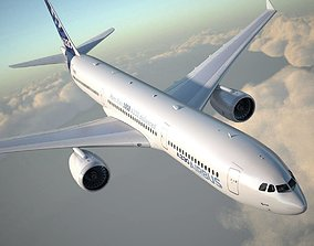 Airbus a330-300 with interior 3D
