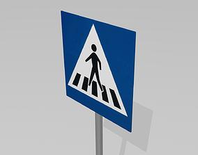 signal 3D Pedestrian crossing sign
