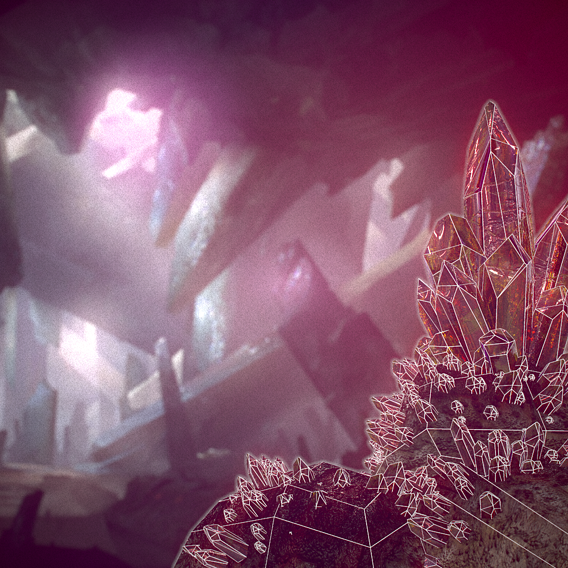 Crystal Minerals Low poly game ready