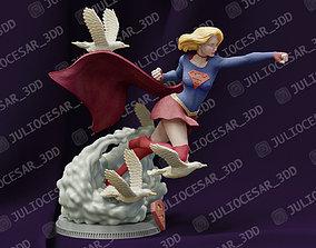 art SuperGirl 3D print model