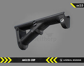 Angled Grip - FPS Gun Attachment for Unreal 3D asset