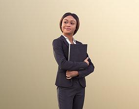 3D asset Iona 10619 - Black Business Woman Standing 2