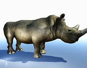 3D model animated RHINOCEROS