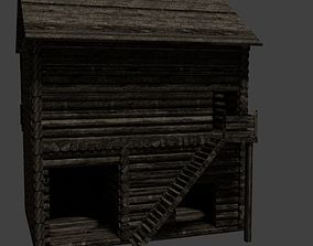 Wood House 3D model medievalwoodhouse