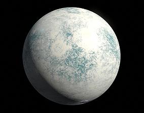 3D model Icy Moon 02 - 8k PBR
