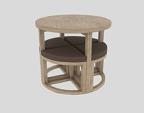 3D model table chair Gambon Stowaway
