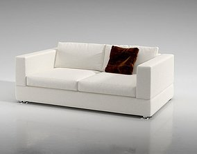 White Comfy Couch 3D model
