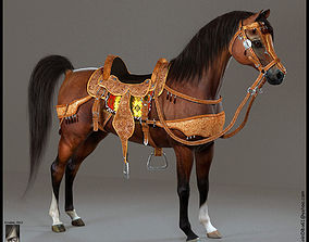 3D model Arabian Horse animals