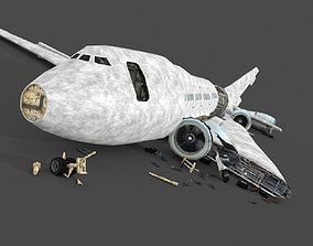 3D asset Wreck Airplane