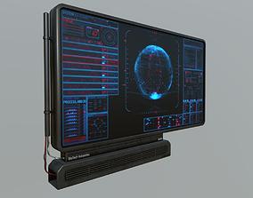 Sci-Fi Display Panel 3D asset