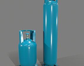 3D model gas-cylinder