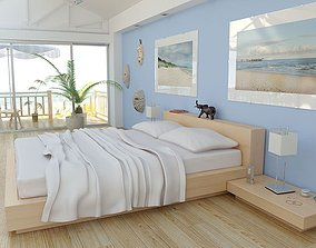 Realistic Beds Collection room 3D