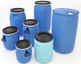 3D Plastic Barrels Set