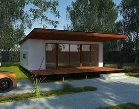 outdoor Modular house 3D model