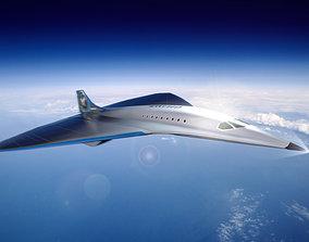 3D model Virgin Mach 3 high-speed vehicle spaceship