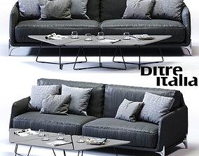 3D asset Ditre Italia ELLIOT 3-er Maxi Sofa