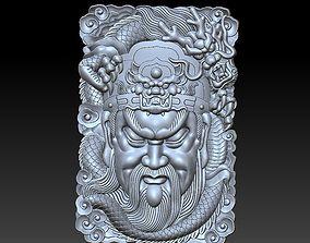 Guangong and dragon 3D