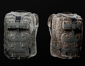 customizable Military backpack 2 color variations 3D model