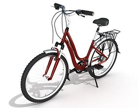 Red City Bicycle 3D model