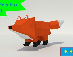 3D asset Low-Poly Fox Animation Rig