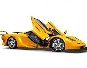 3D asset McLaren F1 GT Longtail
