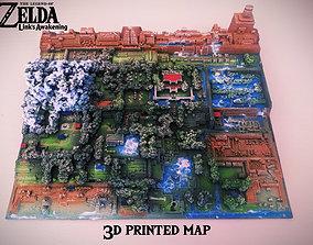 3D print model Zelda Link s Awakening map