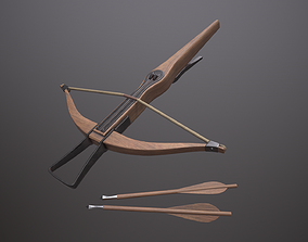 Crossbow 3D asset game-ready