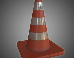 3D asset realtime PBR Traffic Cone