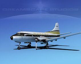 3D model Martin 202 Mohawk Airlines