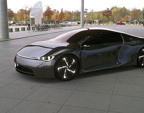 Supercar 3D model coupe