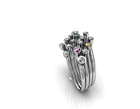 3D print model Fashion ring modern