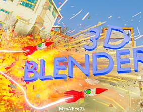Blender Splash Screen 3D