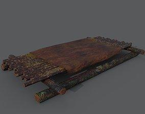 Medieval Bed 3D model