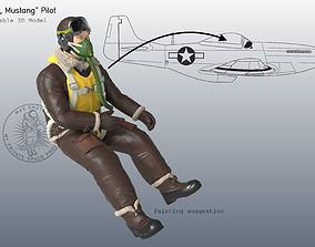 3D print model P-51 Mustang Pilot