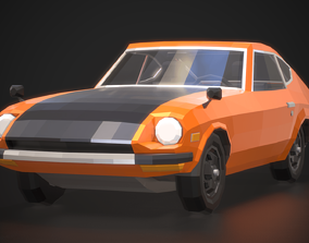 Low-Poly Retro Sports Car 01 3D model