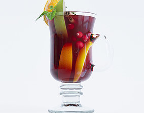 Glass Of Mulled Wine 3D model
