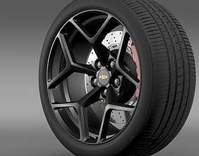 Chevrolet Camaro Z28 2014 wheel 3D model
