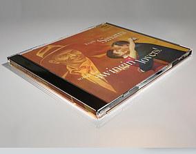 CD Jewel Case and CD Disc 3D model