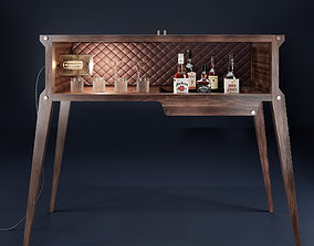 THE ROCKSTAR BAR with whiskey bottles 3D animated
