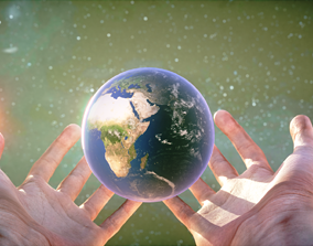 3D asset The Future of Earth is in our hands