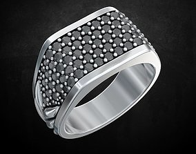 Ring with stones size 9 187 3D print model