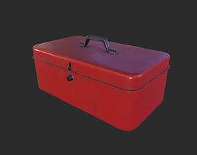 Antique Toolbox game ready 3D asset