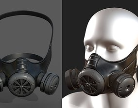 realtime Gas mask helmet 3d model military 2