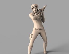 Female fighter 3D print model