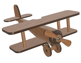 3D Children airplane made of wood